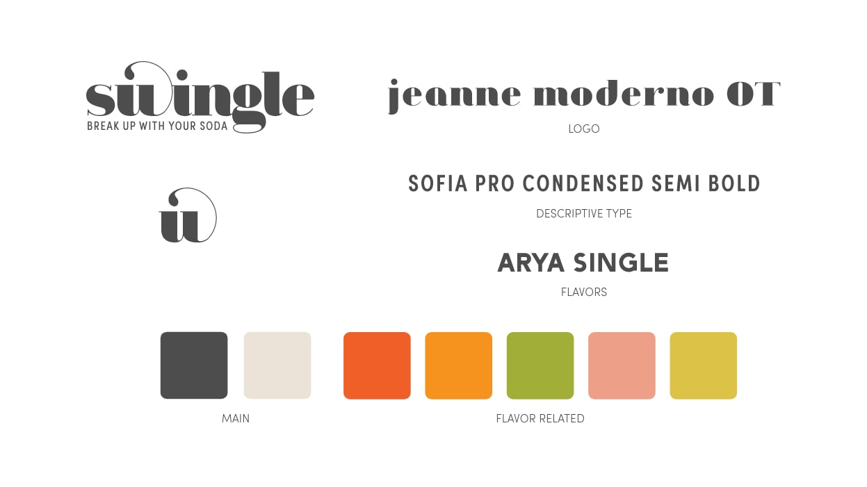 Swingle Details: Typography and colors